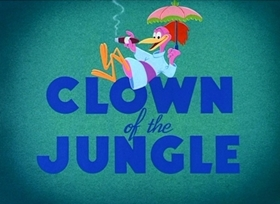 Screenshots from the 1947 Disney cartoon Clown of the Jungle