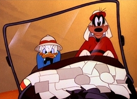 Screenshots from the 1947 Disney cartoon Crazy with the Heat