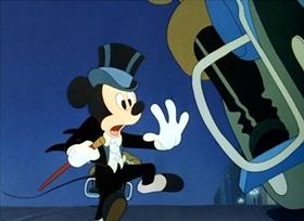 Screenshots from the 1947 Disney cartoon Mickey