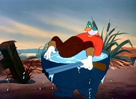 Screenshots from the 1947 Disney cartoon Foul Hunting