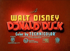 Screenshots from the 1947 Disney cartoon Chip an