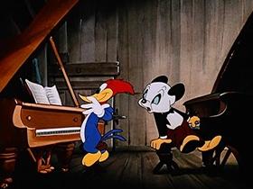 Screenshots from the 1947 Walter Lantz cartoon Musical Moments from Chopin