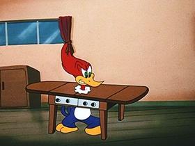 Screenshots from the 1947 Walter Lantz cartoon The Coo-Coo Bird
