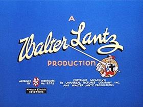 Screenshots from the 1947 Walter Lantz cartoon Well Oiled