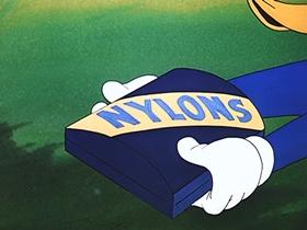Screenshots from the 1947 Walter Lantz cartoon Solid Ivory