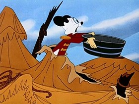 Screenshots from the 1947 Walter Lantz cartoon The Band Master