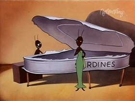 Screenshots from the 1947 Warner Brothers cartoon The Gay Anties