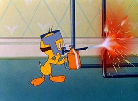 Screenshots from the 1947 Warner Brothers cartoon Tweetie Pie