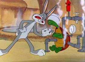 Screenshots from the 1947 Warner Brothers cartoon Rabbit Transit