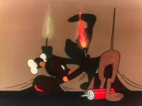 Screenshots from the 1947 Warner Brothers cartoon Inki at the Circus