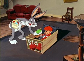 Screenshots from the 1947 Warner Bros. cartoon Easter Yeggs