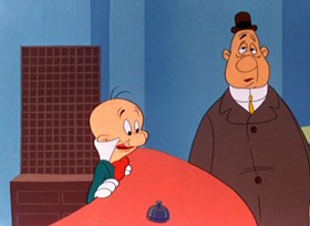Screenshots from the 1947 Warner Brothers cartoon A Pest in the House