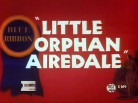 Screenshots from the 1947 Warner Brothers cartoon Little Orphan Airedale