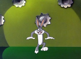 Screenshots from the 1947 Warner Brothers cartoon Slick Hare