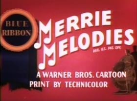 Screenshots from the 1947 Warner Brothers cartoon Doggone Cats