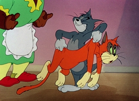 Screenshots from the 1948 MGM cartoon Old Rockin