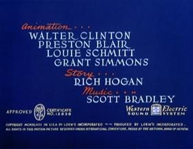 Screenshots from the 1948 MGM cartoon Lucky Ducky
