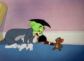 Screenshots from the 1948 MGM cartoon Professor Tom