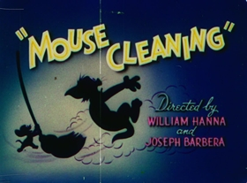 Screenshots from the 1948 MGM cartoon Mouse Cleaning