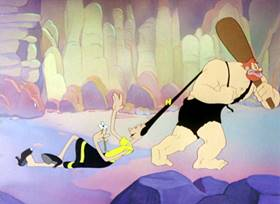 Screenshots from the 1948 Paramount / Famous Studios cartoon Pre-Hysterical Man