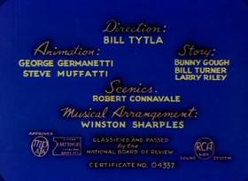 Screenshots from the 1948 Paramount / Famous Studios cartoon The Bored Cuckoo