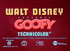 Screenshots from the 1948 Disney cartoon The Big Wash
