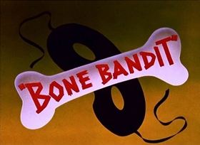 Screenshots from the 1948 Disney cartoon Bone Bandit