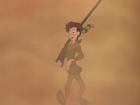 Screenshots from the 1948 Disney cartoon The Legend of Johnny Appleseed