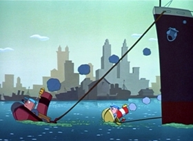 Screenshots from the 1948 Disney cartoon Little Toot