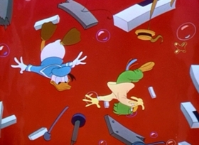 Screenshots from the 1948 Disney cartoon Blame It on the Samba