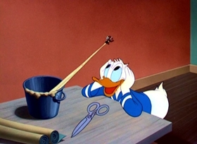 Screenshots from the 1948 Disney cartoon Inferior Decorator