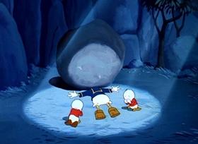 Screenshots from the 1948 Disney cartoon Soup