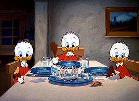 Screenshots from the 1948 Disney cartoon Soup