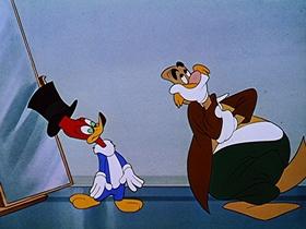 Screenshots from the 1948 Walter Lantz cartoon The Mad Hatter