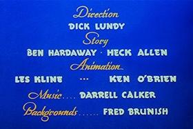 Screenshots from the 1948 Walter Lantz cartoon Wet Blanket Policy