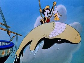 Screenshots from the 1948 Walter Lantz cartoon Playful Pelican