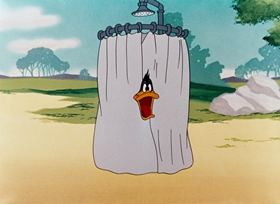 Screenshots from the 1948 Warner Brothers cartoon What Makes Daffy Duck