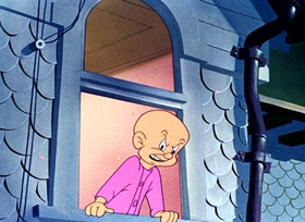 Screenshots from the 1948 Warner Brothers cartoon Back Alley Oproar