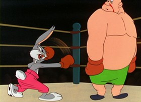 Screenshots from the 1948 Warner Brothers cartoon Rabbit Punch