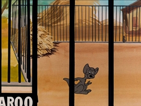 Screenshots from the 1948 Warner Brothers cartoon Hop, Look and Listen