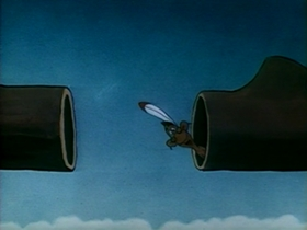 Screenshots from the 1948 Warner Bros. cartoon Nothing But the Tooth