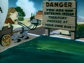 Screenshots from the 1948 Warner Brothers cartoon Nothing But the Tooth