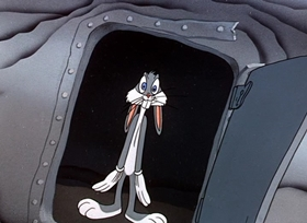 Screenshots from the 1948 Warner Brothers cartoon Haredevil Hare