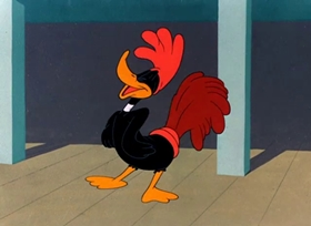 Screenshots from the 1948 Warner Brothers cartoon You Were Never Duckier