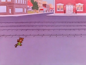 Screenshots from the 1948 Warner Bros. cartoon A Hick, A Slick, and a Chick