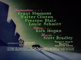 Screenshots from the 1949 MGM cartoon Bad Luck Blackie