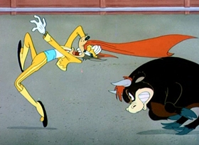 Screenshots from the 1949 MGM cartoon Senor Droopy
