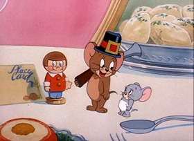 Screenshots from the 1949 MGM cartoon The Little Orphan