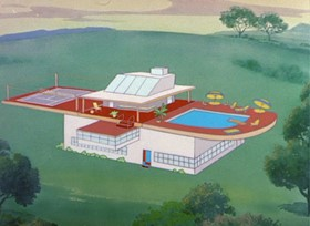 Screenshots from the 1949 MGM cartoon The House of Tomorrow