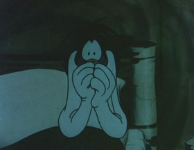 Screenshots from the 1949 MGM cartoon Doggone Tired